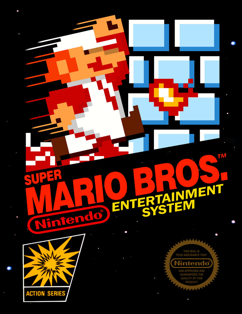 "Super Mario Bros (NES) - ""Box Art"" - Acrylic Print - 8.5 x 11"