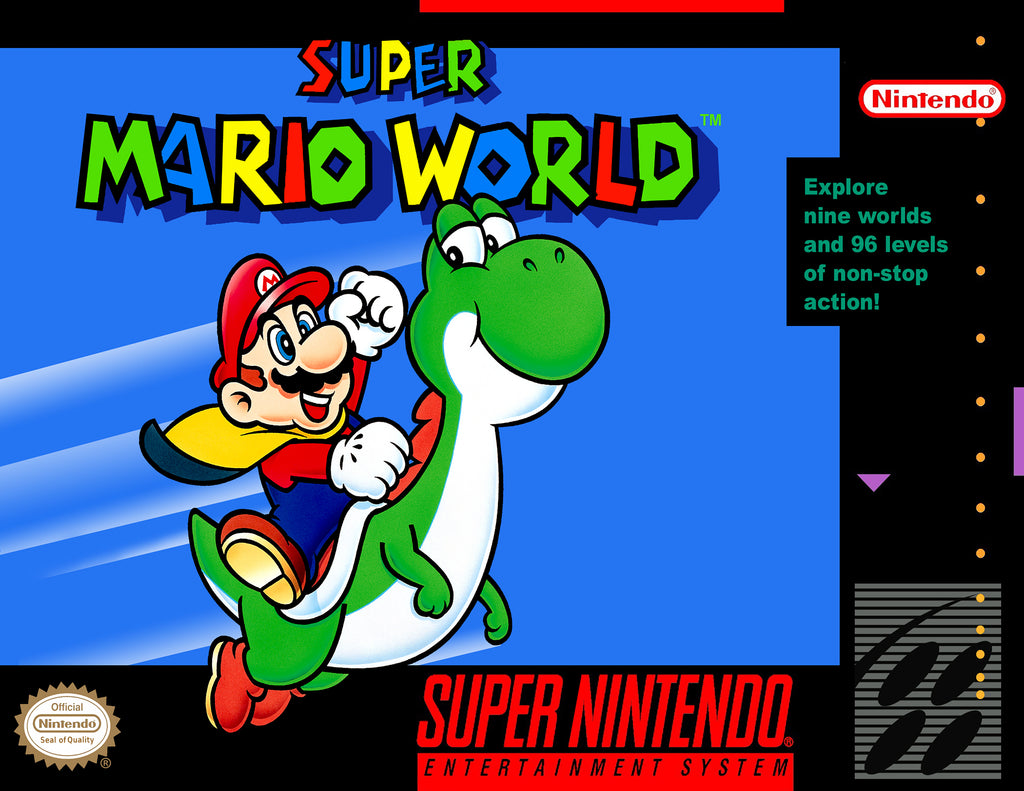 "Super Mario World (SNES) - ""Box Art"" - Acrylic Print - 8.5 x 11"