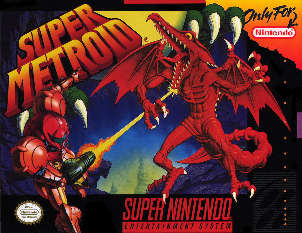 "Super Metroid (SNES) - ""Box Art"" - Acrylic Print - 8.5 x 11"