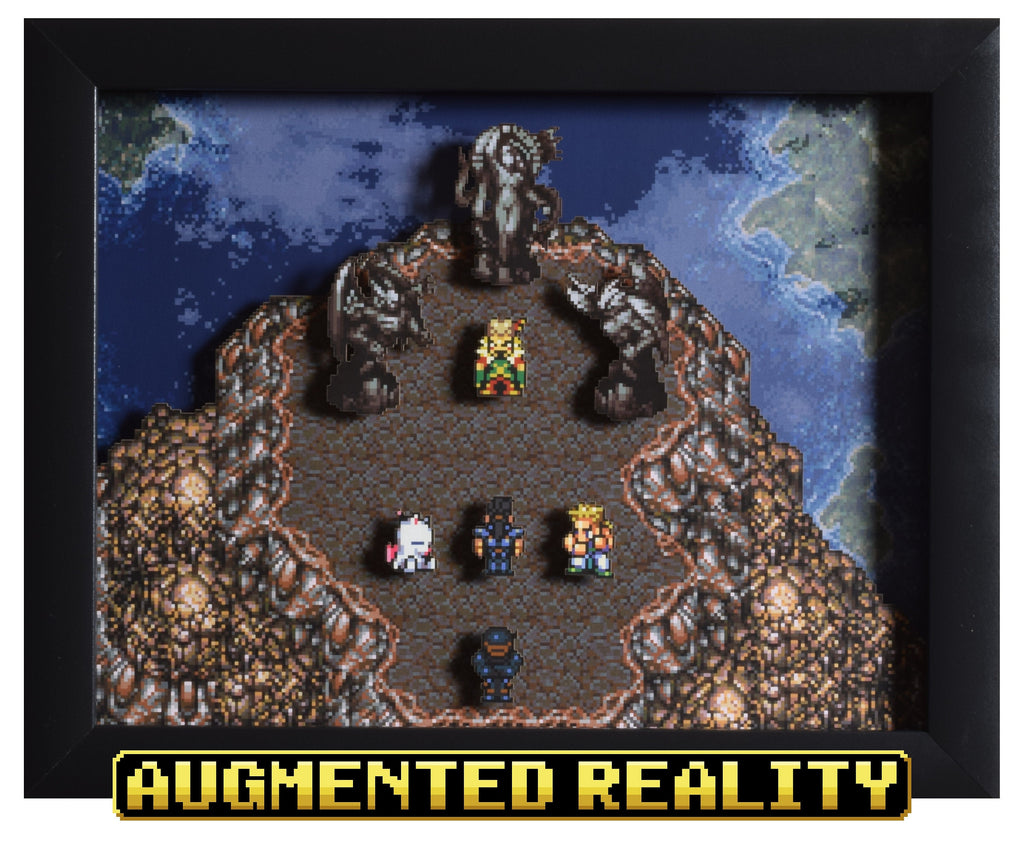 "Final Fantasy III/VI (SNES) - ""Floating Continent"" - 3D AR Shadow Box"