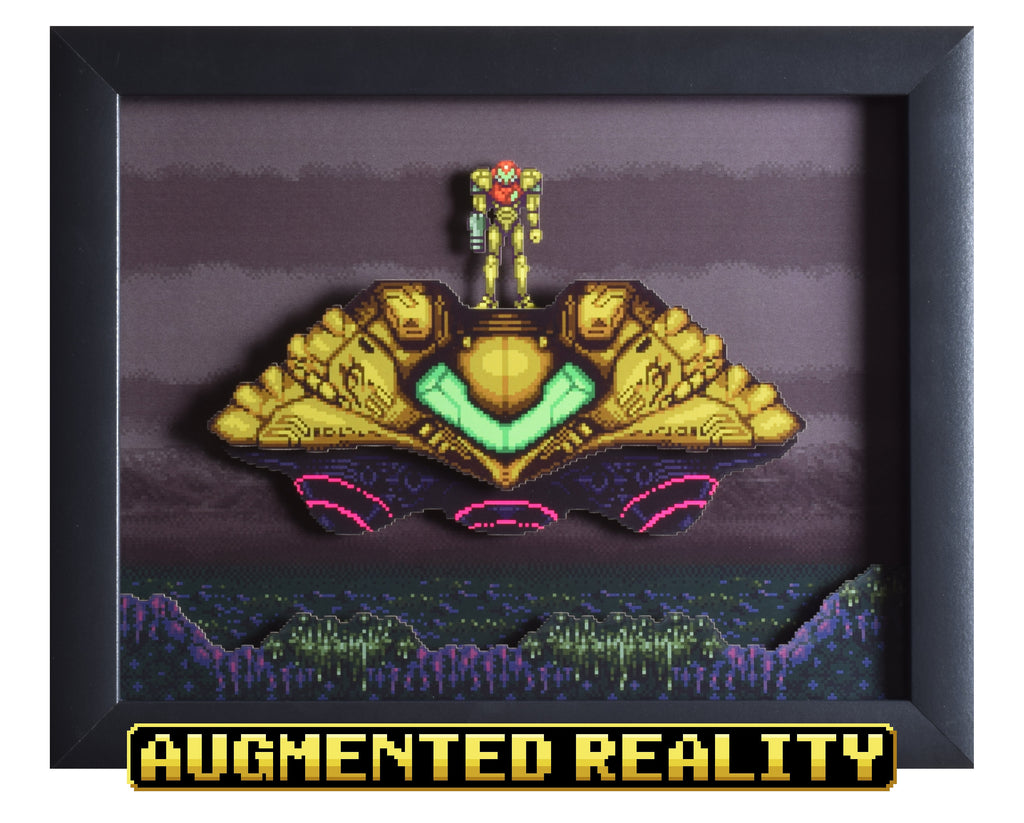 "Super Metroid (SNES) - ""The Gunship"" - 3D AR Shadow Box"