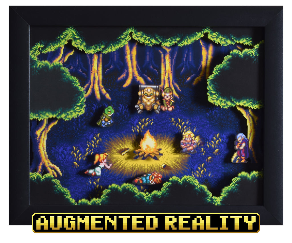 "Chrono Trigger (SNES) - ""Fiona's Forest"" - 3D AR Shadow Box"