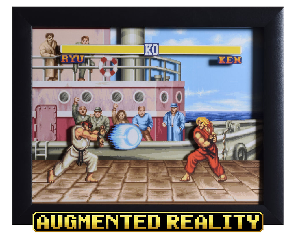 Street Fighter 2 Snes The Dock 3d Ar Shadow Box Video Game Shadow Box