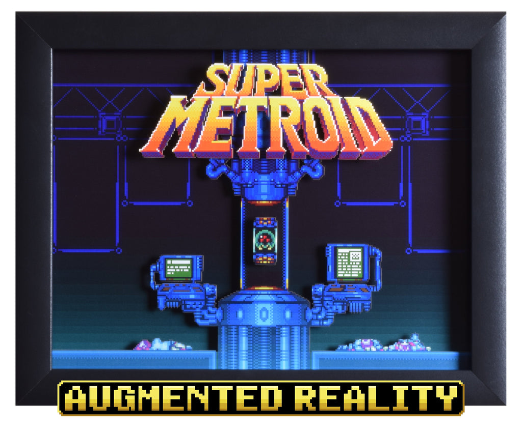 "Super Metroid (SNES) - ""Title Screen"" - 3D AR Shadow Box"
