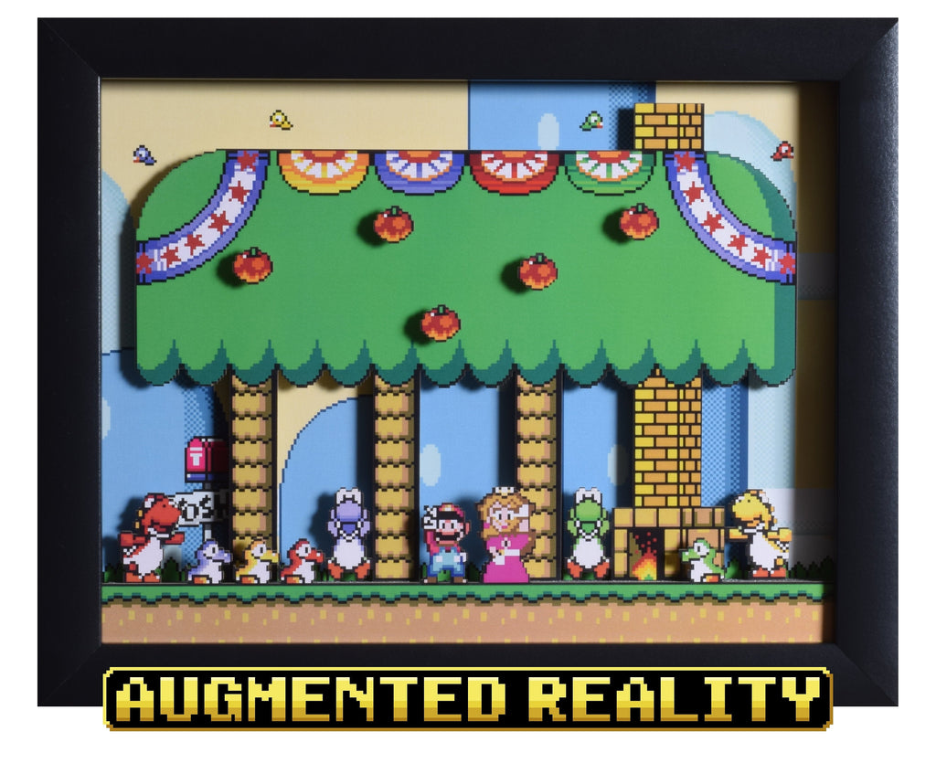 "Super Mario World (SNES) - ""Yoshi's House"" - 3D AR Shadow Box"