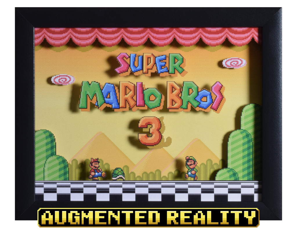 "Super Mario All Stars (SNES) - ""Super Mario Bros 3"" - 3D AR Shadow Box"