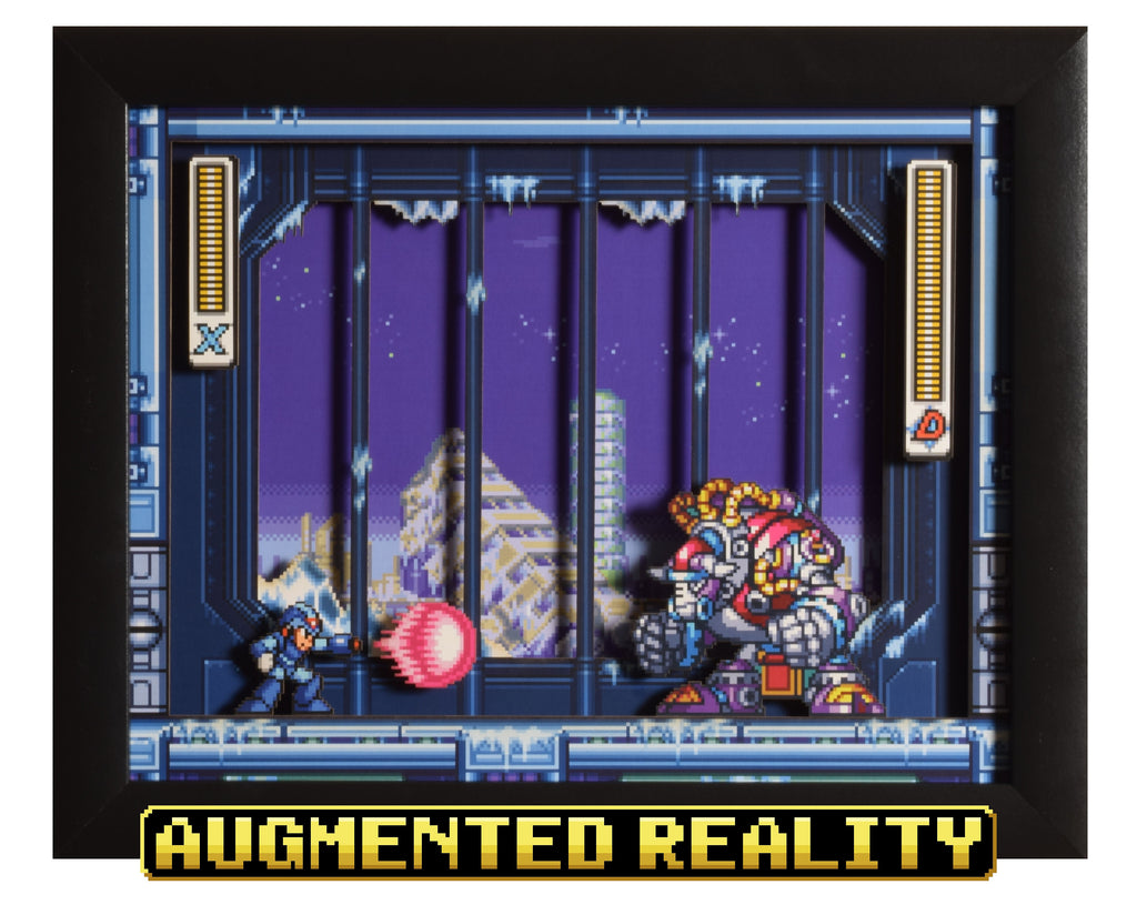 "Mega Man X3 (SNES) - ""Blizzard Buffalo"" - 3D AR Shadow Box"