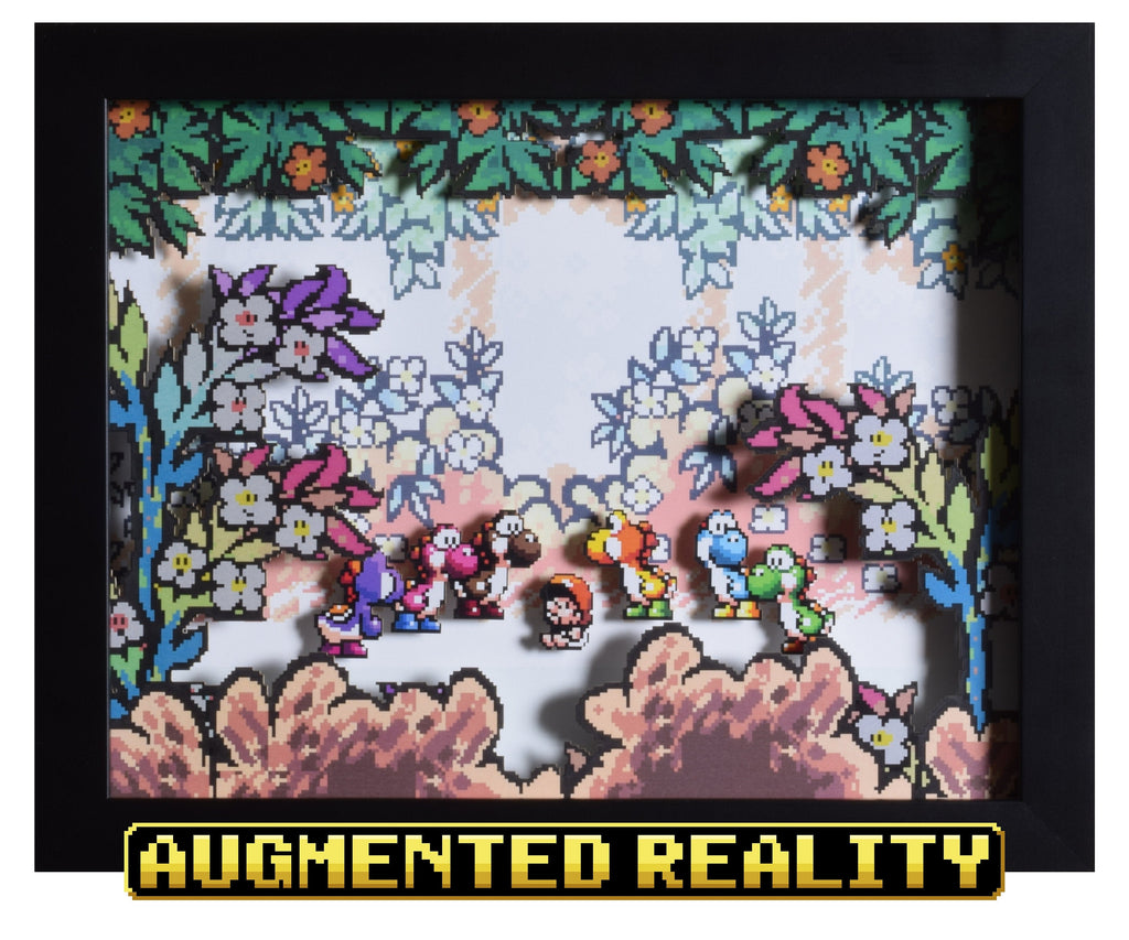 "Super Mario World 2 (SNES) - ""Baby Mario"" - 3D AR Shadow Box"
