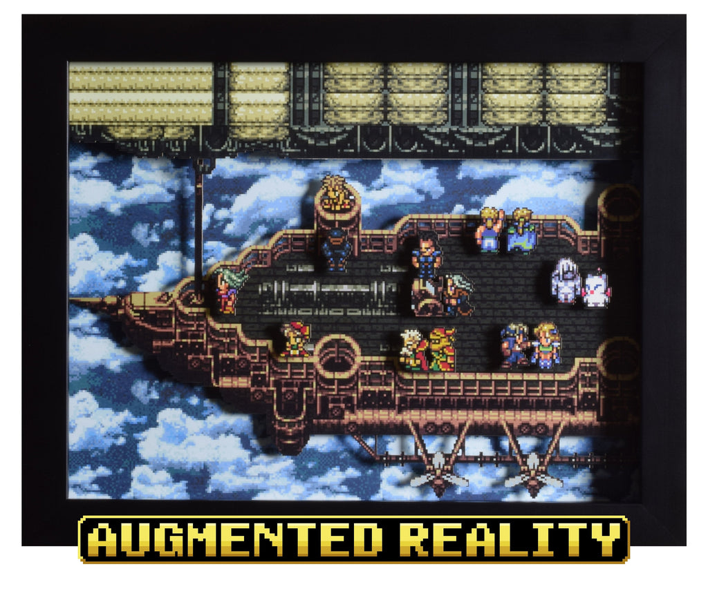 "Final Fantasy III/VI (SNES) - ""The Falcon"" - 3D AR Shadow Box"