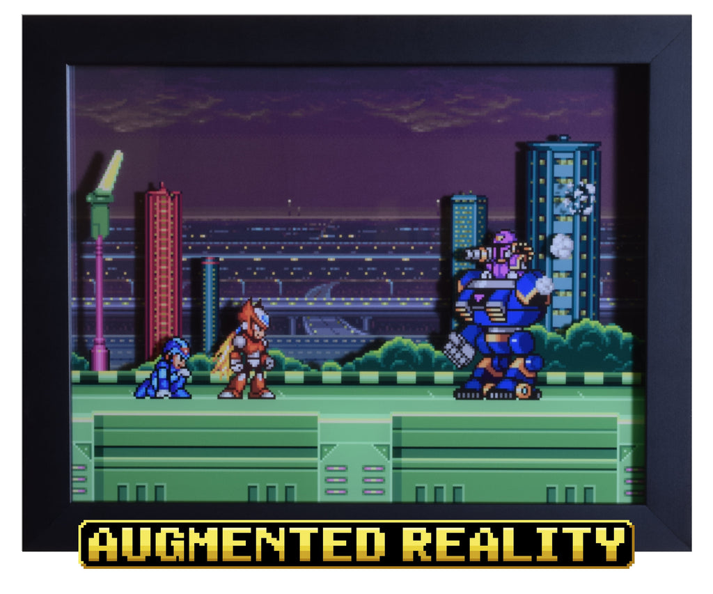 "Mega Man X (SNES) - ""Zero & Vile"" - 3D AR Shadow Box"