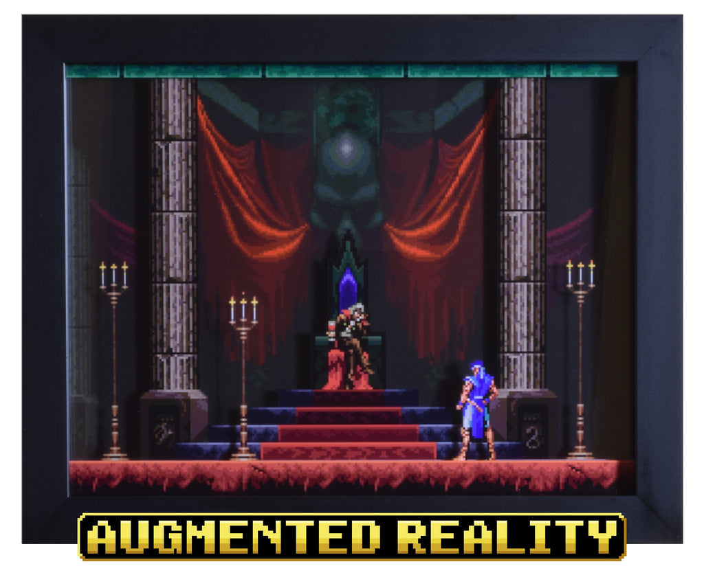 "Castlevania: Symphony of the Night (PSX) - ""Dracula"" - 3D AR Shadow Box"