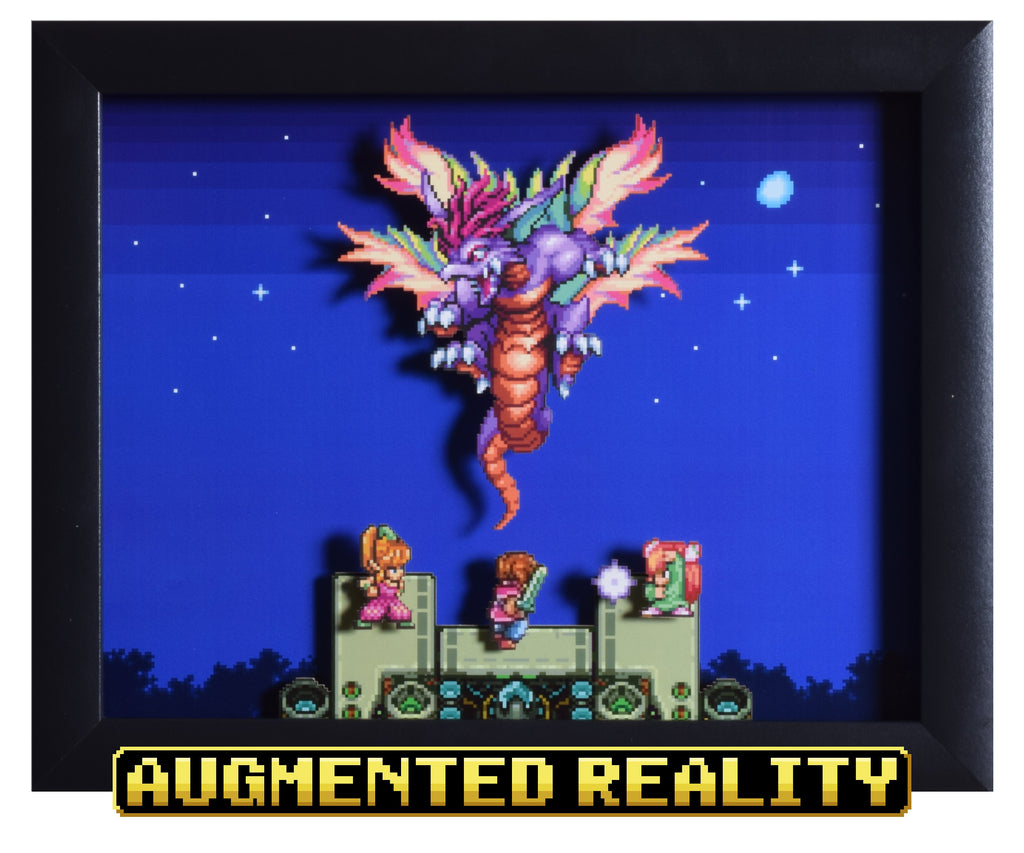 "Secret of Mana (SNES) - ""The Mana Beast"" - 3D AR Shadow Box"