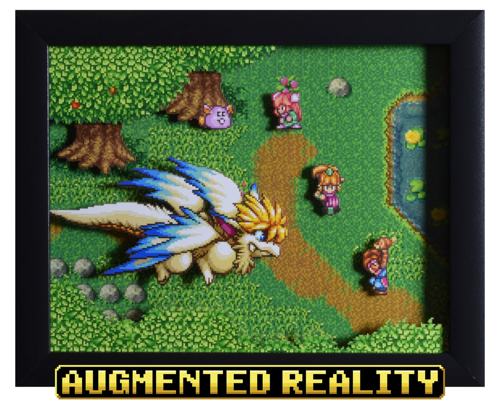"Secret of Mana (SNES) - ""Flammie"" - 3D AR Shadow Box"
