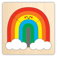 Load image into Gallery viewer, Rainbow Wood Puzzle