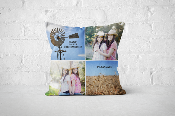 40x40cm Pillow/Cover - But Why Not - Photo Gifts