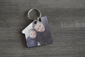 Wood Key Ring - House - But Why Not - Photo Gifts