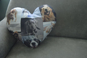 Big Heart Pillow - But Why Not - Photo Gifts