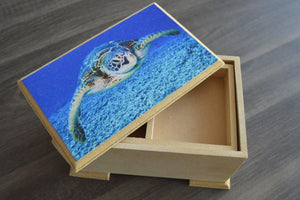 Large Wood Box - But Why Not - Photo Gifts