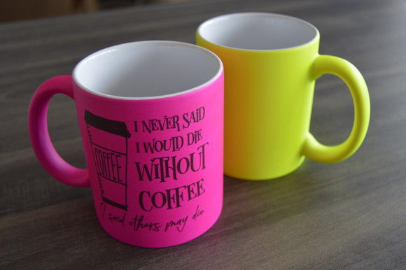Neon Mugs - But Why Not - Photo Gifts