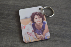 Wood Key Ring - Rectangle Large - But Why Not - Photo Gifts