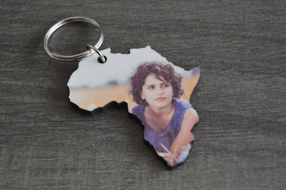 Wood Key Ring - Africa