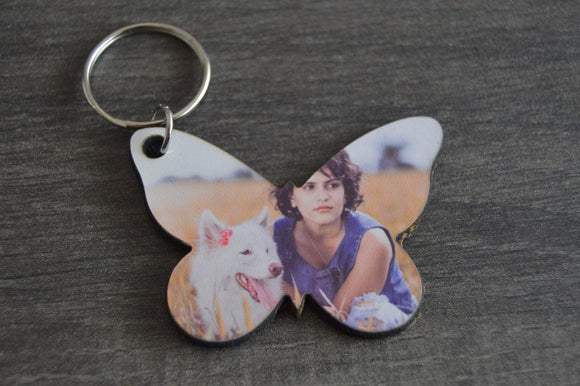Wood Key Ring - Butterfly