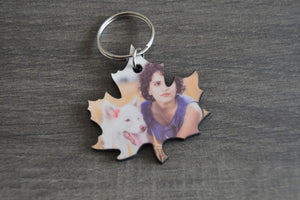 Wood Key Ring - Leaf - But Why Not - Photo Gifts
