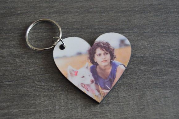 Wood Key Ring - Heart - But Why Not - Photo Gifts