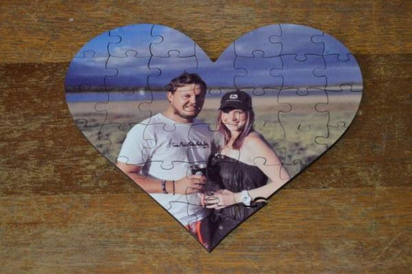 Puzzle - Wood Heart - But Why Not - Photo Gifts