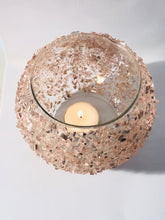 Load image into Gallery viewer, Pink Shimmer Bubble Bowl Tea Light Holder