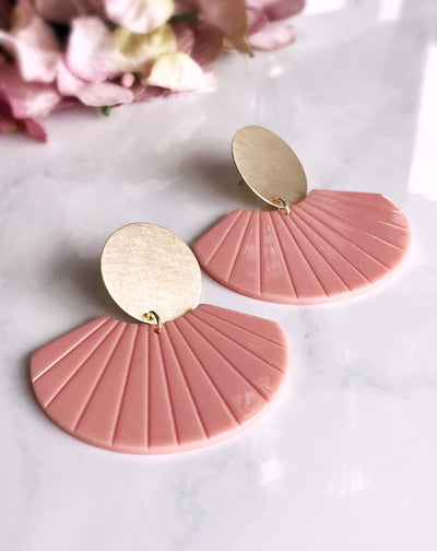 kyoto earrings - blush