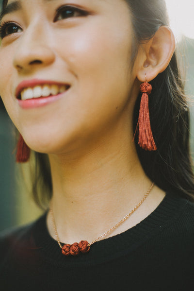 Short Tassel Earrings - NATURE'S AROMA