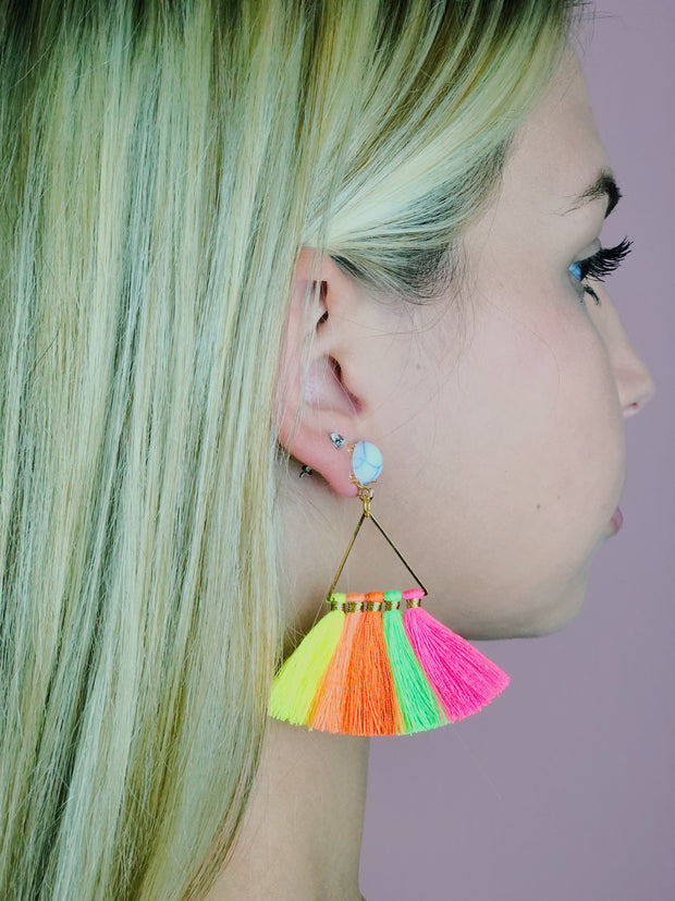 Ellie Triangle Earring - NATURE'S AROMA