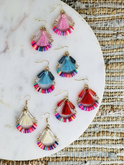 Lauper Rainbow Hoop Earrings - NATURE'S AROMA