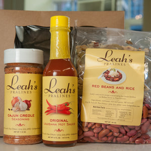 Louisiana Kitchen Kit - includes Cajun Creole seasoning, hot sauce and red beans and rice mix