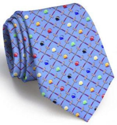 Sunday Croquet Tie Blue