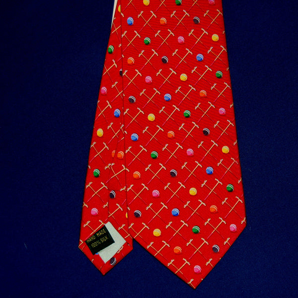 Sunday Croquet Tie Red