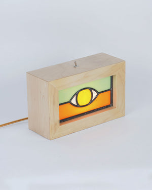 Ben Houtkamp: Stained Glass Light Box - Orange/Green