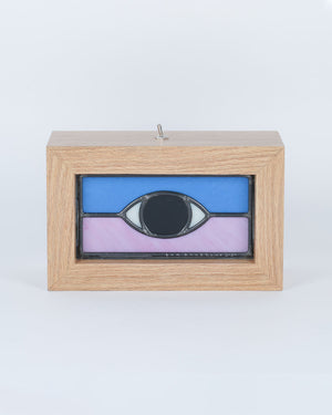 Ben Houtkamp: Stained Glass Light Box - Blue/Purple