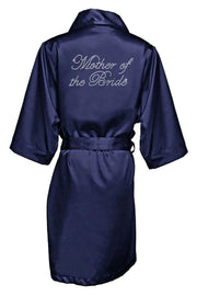 RHINESTONE MOTHER OF THE BRIDE SATIN ROBE