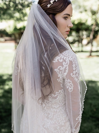 SINGLE TIER BRIDAL VEIL | V2090SF