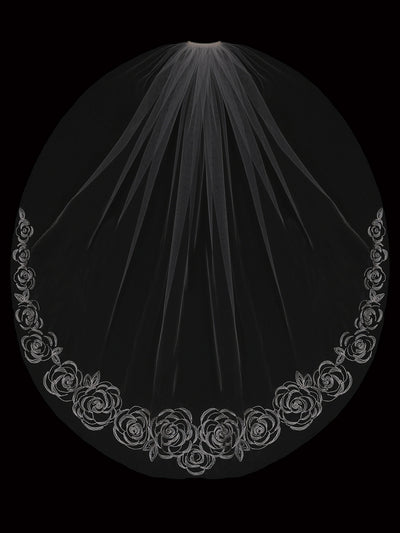 SINGLE TIER BRIDAL VEIL | V2096SF