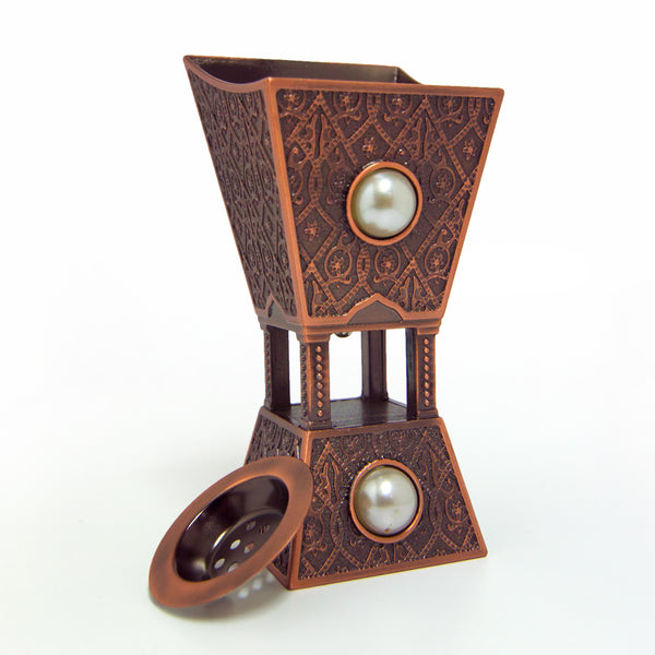 Arabian Style Rose Gold Bukhoor Burner 2312M - Orientica