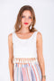 FRIDA TASSEL TOP - WHITE