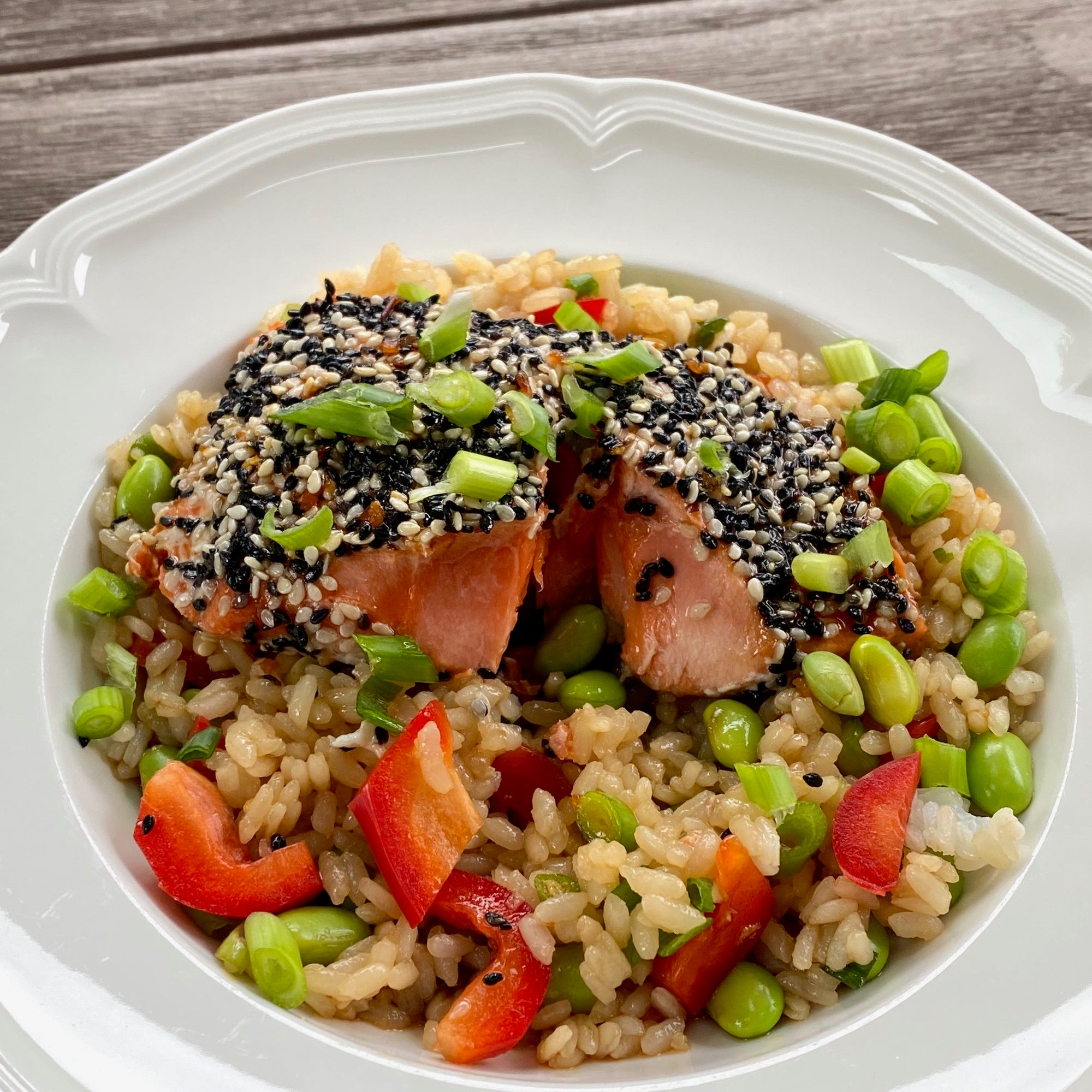 Premier Catch Sesame-Crusted Salmon Bowl
