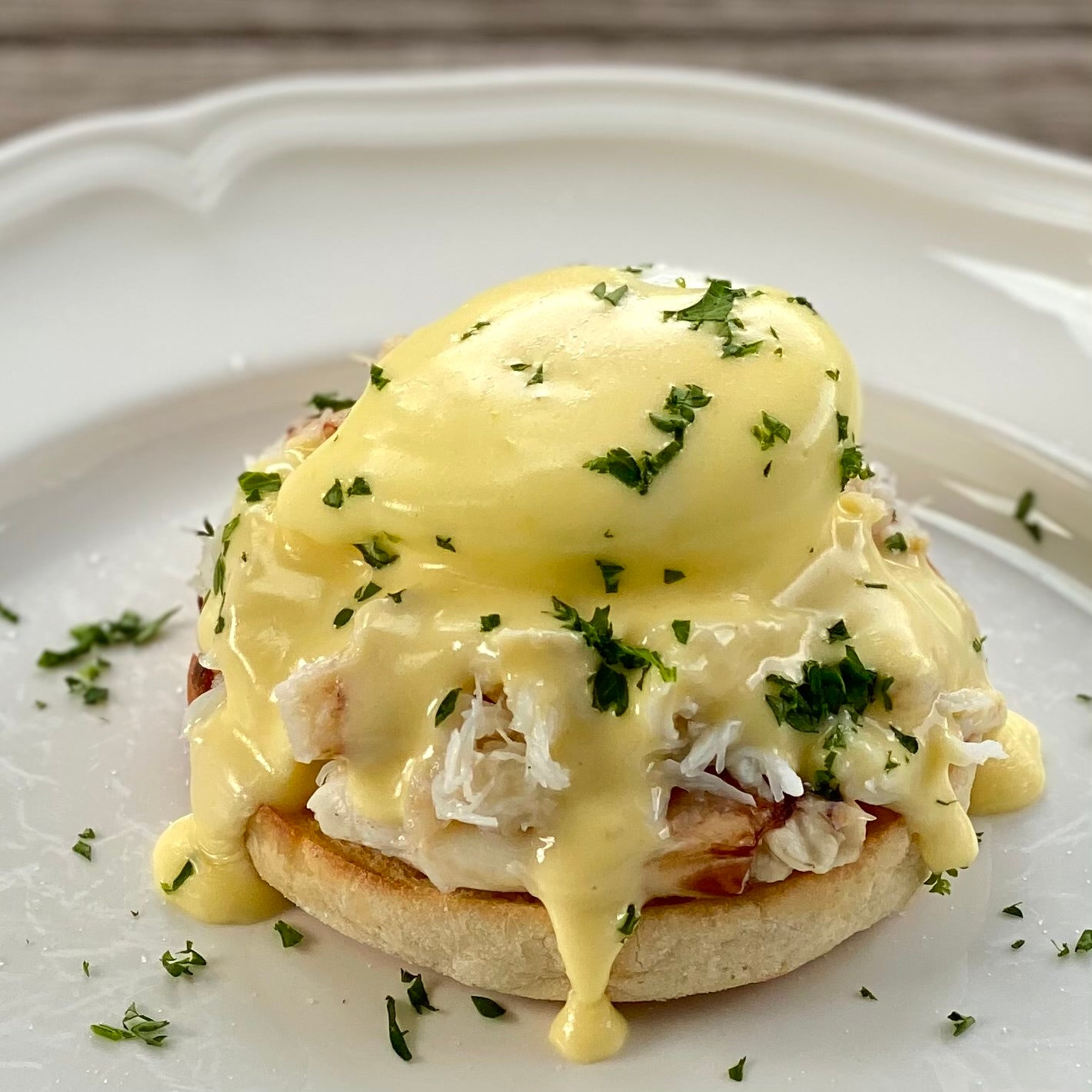 Cousin Kelly's Dungeness Crab Benedict