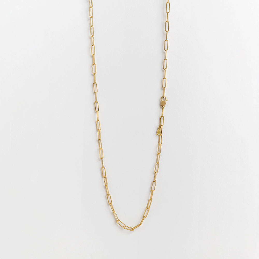 Rectangle Link Chain (18K gold)