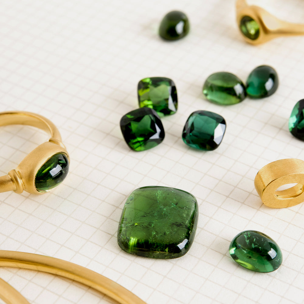 Cushion Green Braz Tourmaline