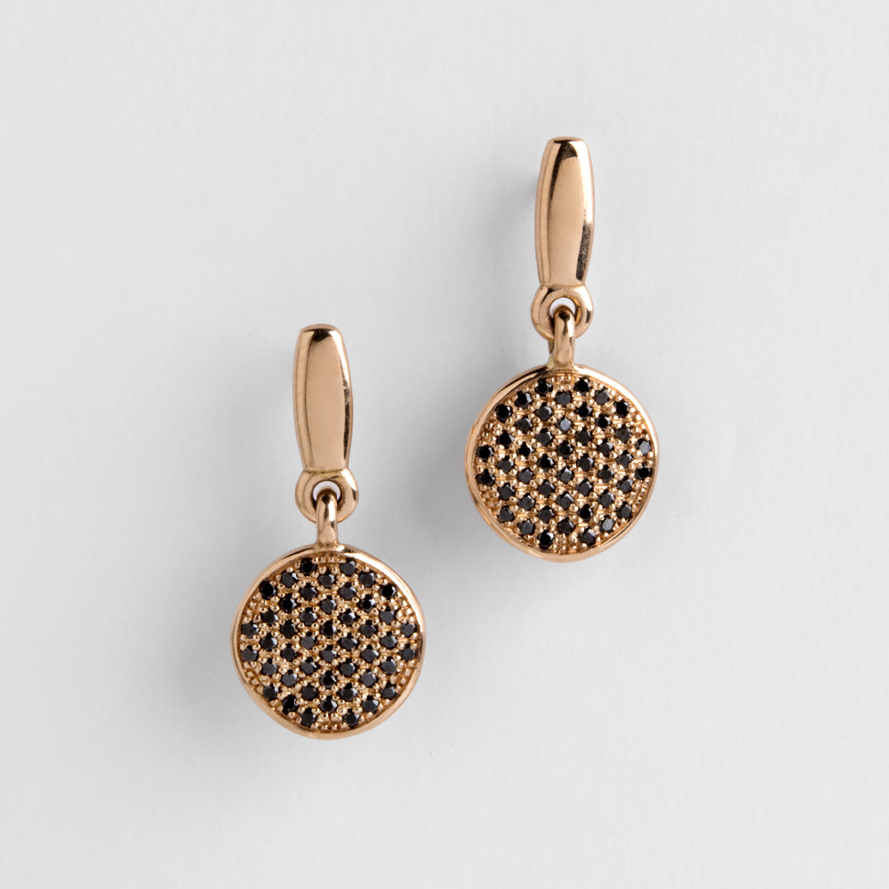 Dangle Gobelin With Black Diamonds Earrings