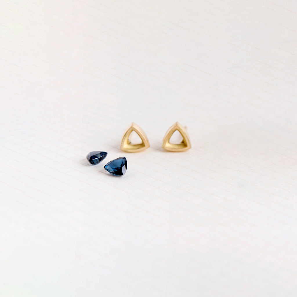 Blue Trillions Earrings
